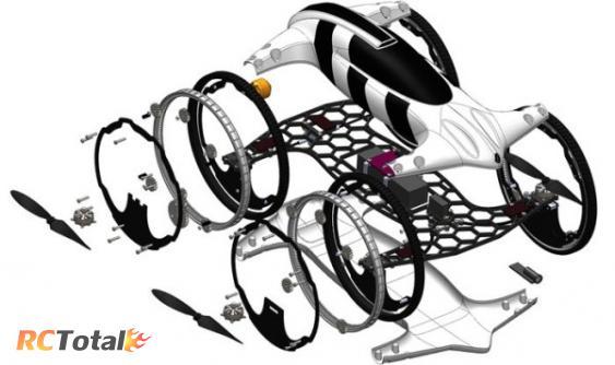 Схема автомобиля-квадрокоптера